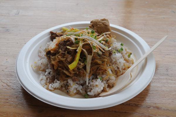 たっぷりネギとしょうがの豚豆腐丼