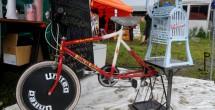 自転車で作るかき氷?