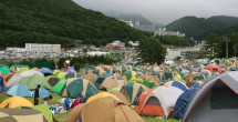 雨のやんだキャンプサイト