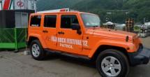オレンジ色のJeepがパトロールカー