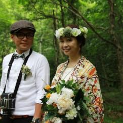 台湾からフジロックに結婚記念写真を撮りにきたカップル!