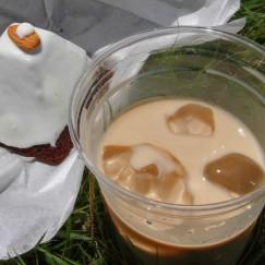 コーヒー牛乳、ピラミッドパワードーナッツ