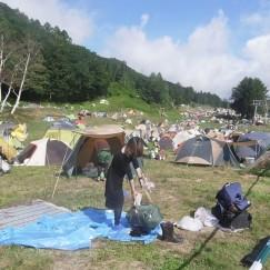 祭りのあと:テント撤収