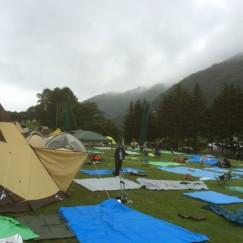 キャンプサイトオープン30分の現況