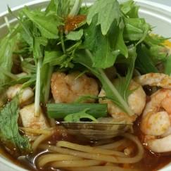 魚介と完熟トマトのスパゲティ