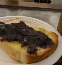 厚切り小倉トースト&カフェオレ