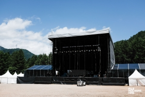 White Stage without speakers