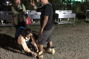 Losing sandals makes long walk to campground more difficult