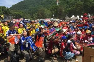 Soccer fans kick off their Saturday at Fuji Rock