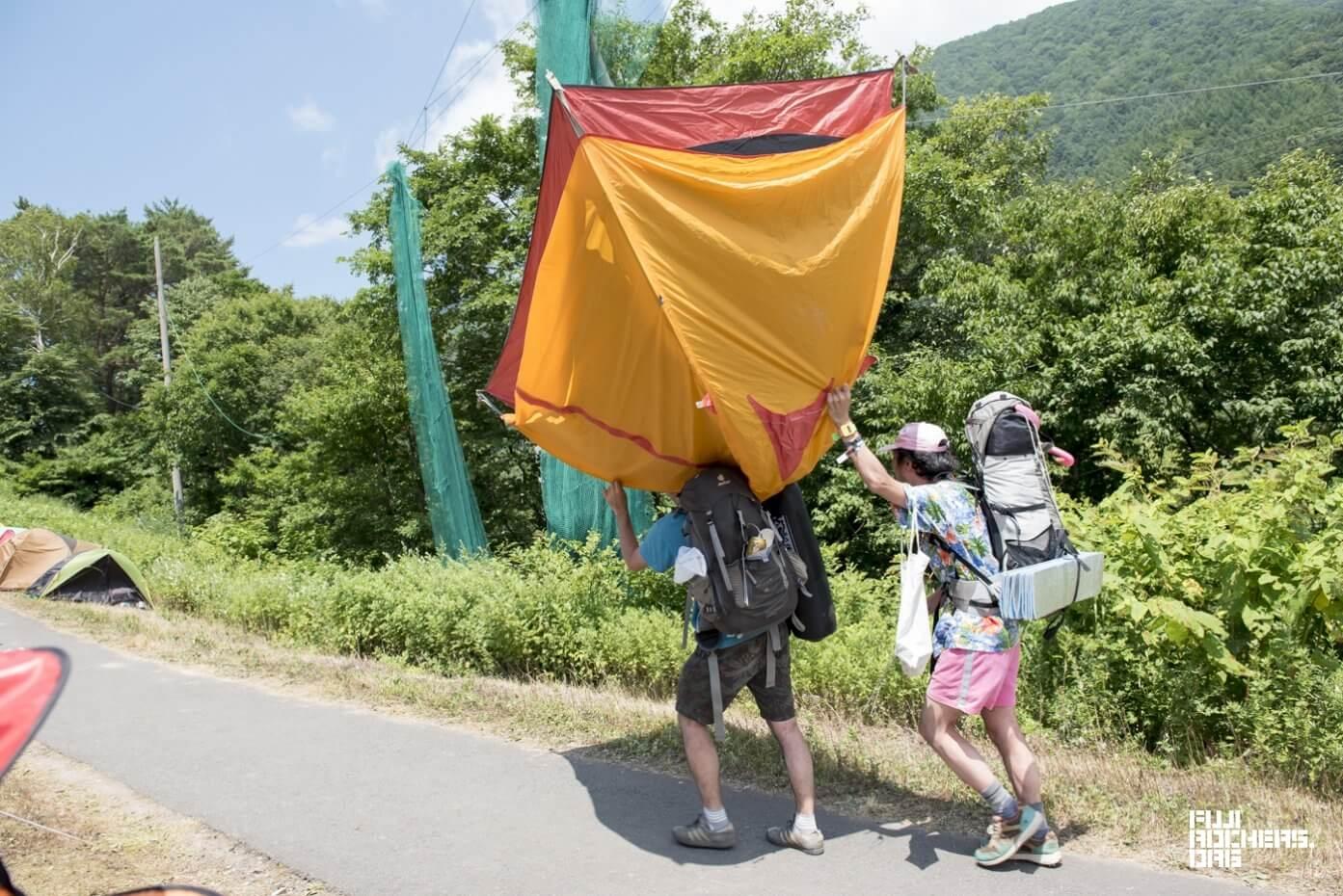 テント移動職人