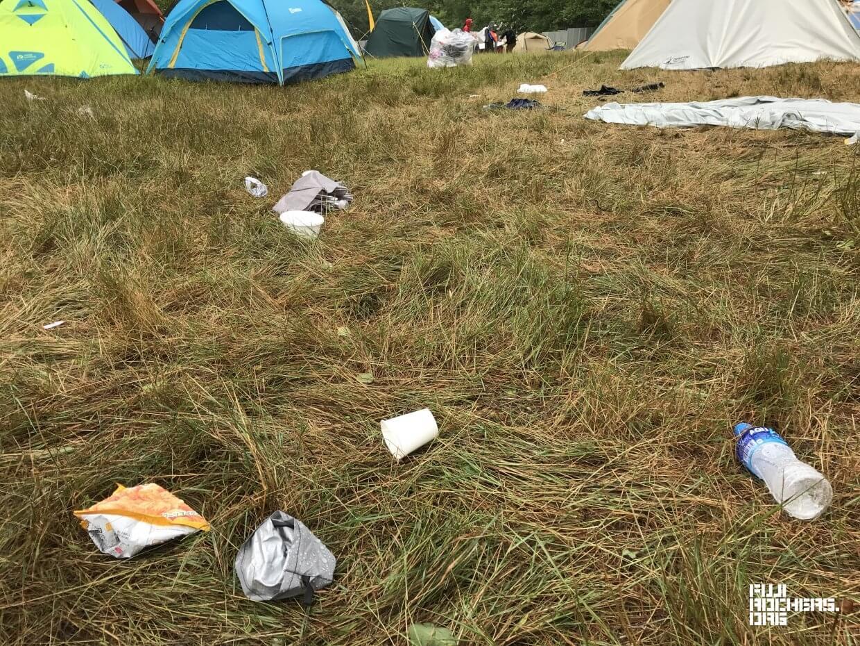キャンプサイトのゴミ事情