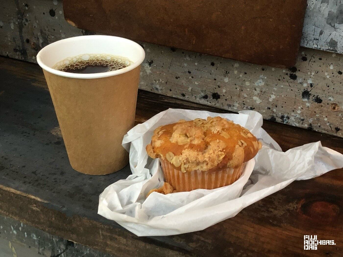 あんこバターマフィン+ホットコーヒー