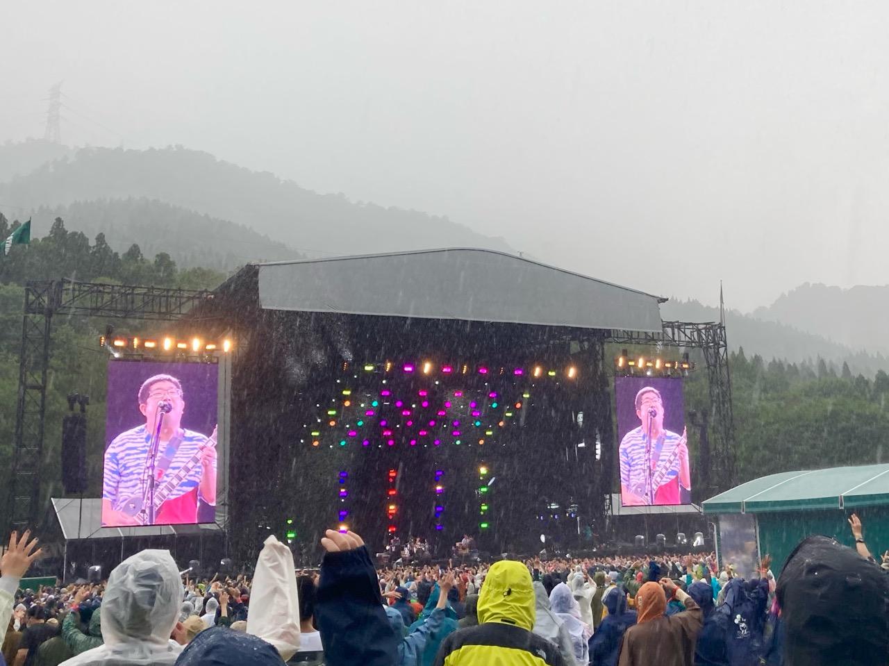 フジロックらしい雨