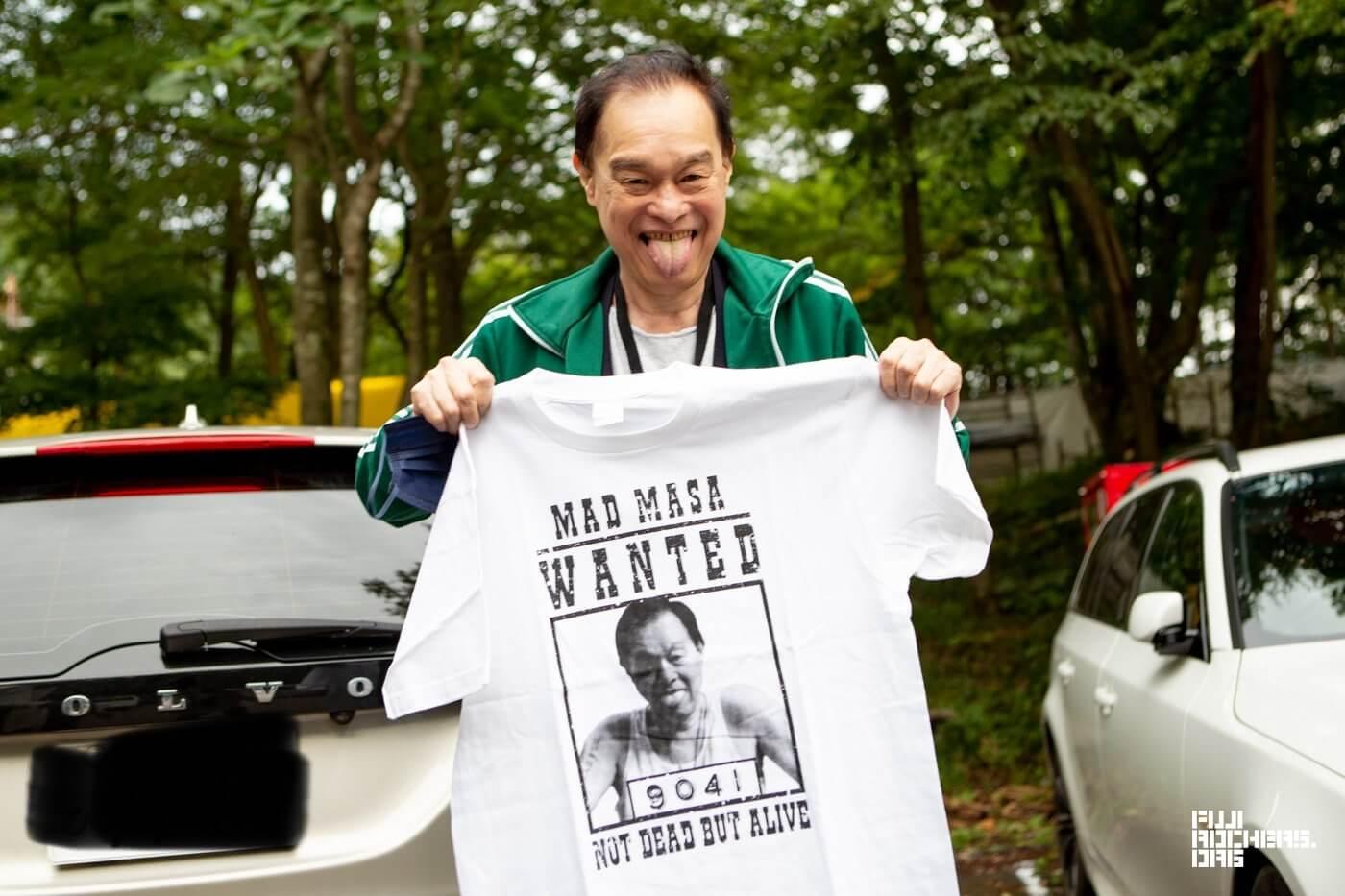 日高さんのTシャツ「MAD MASA T」が完成したよ